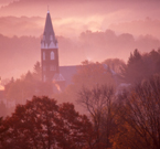 Church in the mist